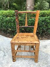 ANTIQUE  VINTAGE BAMBOO CHAIR FOR DOLL OR BEAR - c1900