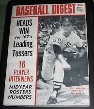 Baseball Digest Magazine August 1967, Joel Horlen White Sox Cover Vol.26 No 7
