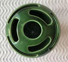 Vintage CAMARK Art Pottery Green Flower Frog