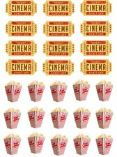 27 Cinema Ticket Popcorn Movie Film Cupcake Cake Toppers Edible Rice Wafer Paper