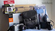SONY α (alpha) NEX-5 DIGITAL CAMERA 14.2 MP HD 1080P 35mm F1.7 Lens + TRIPOD
