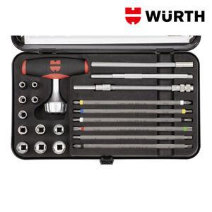 Set Cacciavite a Cricchetto Multiuso Portainserti e Bussole - WÜRTH 0613630400