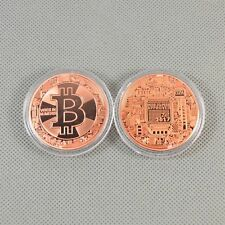 Solid Copper Commemorative Bitcoin Collectible Gifts Golden Iron Miner Coin XN18