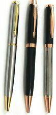 CLASSY PARKER STYLE BLACK & GOLD +BLACK, SILVER BALLPOINT PEN + BLUE INK REFILL