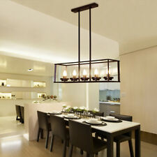 Large Chandelier Lighting Kitchen Lamp Glass Pendant Light Black Ceiling Lights