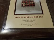 Woolrich Home Twin Flannel Sheet Set