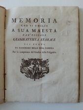 GIAMBATTISTA STARACE MEMORIA PER LA COMPETENZA DEL GIUDICE DELLA POLIGAMIA 1700