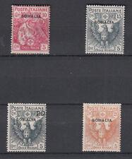 SOMALIA 1916 CROCE ROSSA 4 VALORI SS. 19 - 22  NUOVA MH LINGUELLATA MA  FRESCA