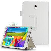 Custodia BIANCA simil pelle Stand per Samsung Galaxy Tab S 8.4 T705 cover nuova