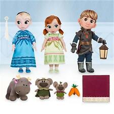 "Anna, Elsa & Kristoff 16"" Dolls Deluxe Gift Set Disney Animators' Collection"