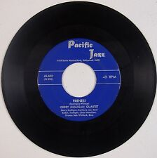 GERRY MULLIGAN QUARTET w/ CHET BAKER: Firensi PACIFIC 45 Record Rare VG+