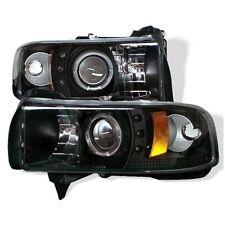 Dodge 94-01 Ram CCFL Black Halo LED Projector Headlights Head light Lamp