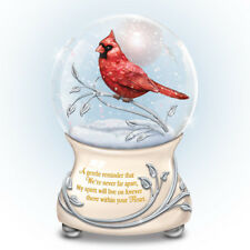 Messenger From Above Cardinal Glitter Water Globe Snow Dome Bradford Exchange