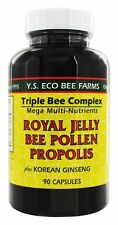 YS Organic Bee Farms Triple Bee Complex Royal Jelly Bee Pollen Propolis Ginseng
