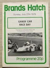 BRANDS HATCH 27 Jul 1975 GANDY CAR RACE DAY Official Programme