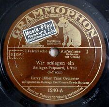 """Harry Hiller - Wir schlagen ein - Schlager-Potpourri - Grammophon /10"""" 78 RPM"""