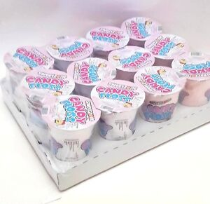 Candy Floss Tubs Ready Made Cinema Snack Kids Party Sweet Soft Chewy 12pcs 20g