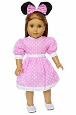 My Brittany's Pink Mouse Dress for American Girl Dolls- 18 Inch Doll Clothes