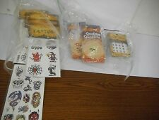 Lot Of 50 Assorted Halloween Spooky Sparklers, Nail Stickers, Tattoos