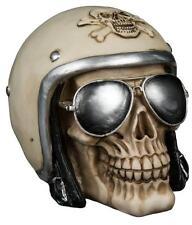 Piggy Bank Skull Motorcycle helmet piggy Bank 5 7/8in ,Money Box Bank ,New
