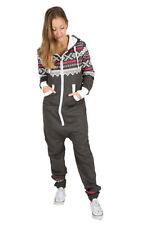 Ladies Women's One Piece Onesie Hoodie Hoody Printed Jumpsuit Playsuit Tracksuit