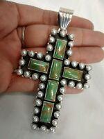 Amazing Southwestern Dan Dodson  sterling turquoise pearl cross pendant