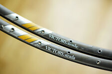 Vintage Used Campagnolo Victory Strada 32H Rim Set - Hard Anodized - Clean!