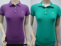 New with Tag American Eagle Women's Short Sleeve Polo T-Shirts Green / Purple