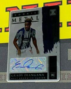 2020-21 Impeccable Premier League Soccer RM-GD Grady Diangana Rc Metal Auto /25