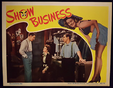 SHOW BUSINESS EDDIE CANTOR CONSTANCE MOORE ORIGINAL 1944 RKO LOBBY CARD MINT!