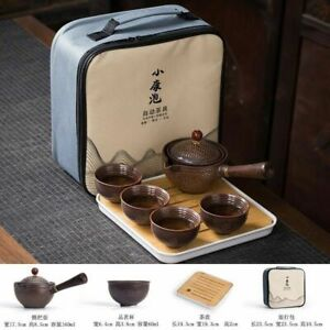Tea Set Portable Lazy Automatic Spinning Travel Kettle GungFu Teapot Cups