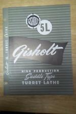 Vtg Gisholt Machine Co Brochure~5L Turret Lathe~Tool Catalog~Madison WI
