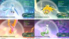 Pokemon Lets Go Pikachu & Eevee All 151 Shiny Pokemon 6IV Max AV Battle Ready