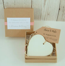 Boxed Clay Heart 9th Wedding Anniversary Gift Keepsake Personalised