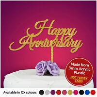 Happy Anniversary Cake Topper Decoration ANY Wedding Anniversary Party Acrylic