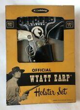 1959 ORIGINAL BOX Vintage HUBLEY WYATT EARP Cap Gun HOLSTER SET