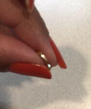 BOHO 22 kt gold nose ring pin HOOP India 18 gauge TWIST CLOSE-USA SELLER #PS