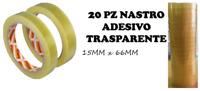 SCOTCH TRASPARENTE NASTRI ADESIVI SCOTCH IMBALLI 15 X 60 MT. 20 PEZZI SILENZIOSO