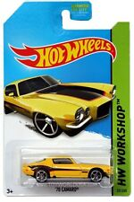 2014 Hot Wheels #231 HW Workshop Muscle Mania '70 Camaro yellow