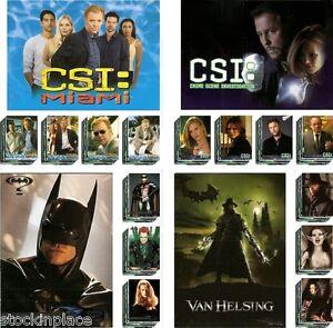 TRADING CARDS Complete Sets BATMAN, VAN HELSING, CSI & CSI Miami