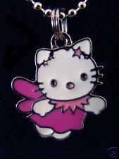 Hello Kitty pink angel dress charm pendant Chained Necklace