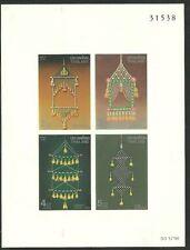 Album Treasures Thailand Scott 1388a Cultural Heritage Souvenir Sheet Mnh