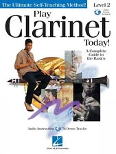 Play Clarinet Today Level 2 Instructional Book and Audio NEW 000842047