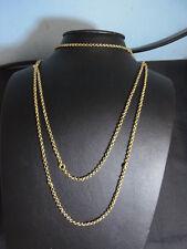 2484-925er Silber Kette alt Vergoldet Lang 150 cm Gewicht 37 Gramm
