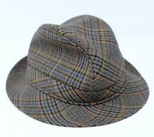 b0930682ad3 Vintage Avoca Tweed Trilby Hat S Irish Pure Wool Country Check Tartan Fedora