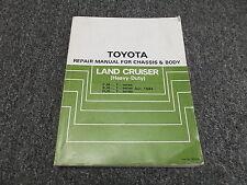 1986 Toyota Land Cruiser FJ62 FJ70 FJ75 Chassis Body Service Repair Manual 1987