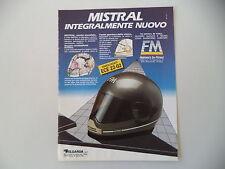 advertising Pubblicità 1986 CASCO HELMET FM MISTRAL