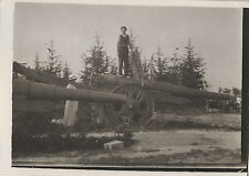 PHOTO ANCIENNE - VINTAGE SNAPSHOT - MILITAIRE ARTILLERIE ARME CANON - MILITARY