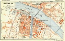 FRANCE. Bayonne 1926 old vintage map plan chart