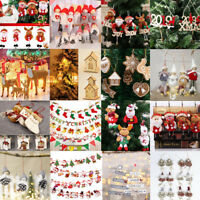 Christmas Party Hanging Decor Santa Claus Snowman Xmas Tree Ornament Decorations